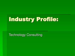 Industry Profile: