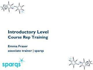 Introductory Level  Course Rep Training