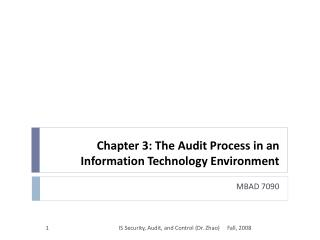 Chapter 3: The Audit Process in an Information Technology Environment