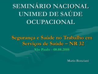 SEMINÁRIO NACIONAL UNIMED DE SAÚDE OCUPACIONAL