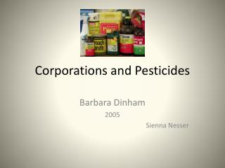 Corporations and Pesticides