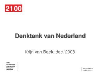 Denktank van Nederland