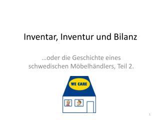 Inventar, Inventur und Bilanz