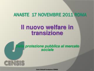 ANASTE  17 novembre 2011 ROMA