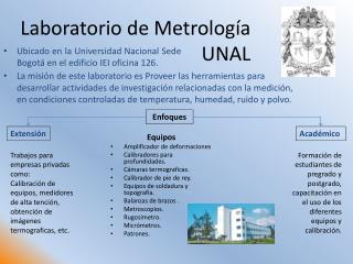 Laboratorio de Metrología                                UNAL