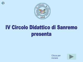 IV Circolo Didattico di Sanremo presenta