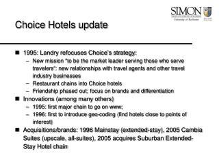 Choice Hotels update