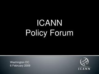 ICANN  Policy Forum