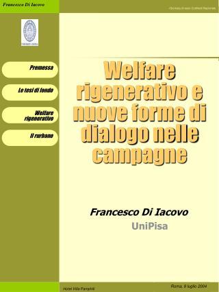 Welfare rigenerativo e nuove forme di dialogo nelle campagne