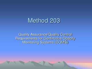Method 203
