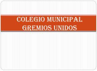 Colegio Municipal Gremios Unidos