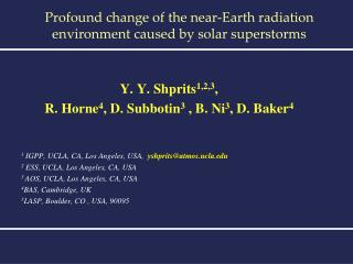 Profound change of the near-Earth radiation environment caused by solar superstorms