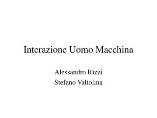 Interazione Uomo Macchina