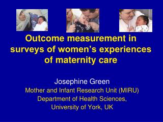 Outcome measurement in surveys of women's experiences of maternity care