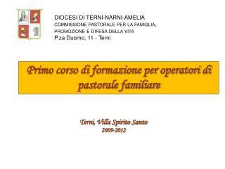 Terni, Villa Spirito Santo 2009-2012