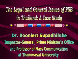 The Legal and General Issues of PSB