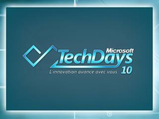9 Février 2010  Patrice TROUSSET DSI Microsoft France & Benelux Microsoft / MS IT