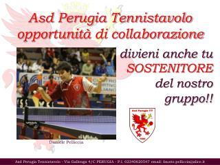 Asd Perugia Tennistavolo opportunit à  di collaborazione