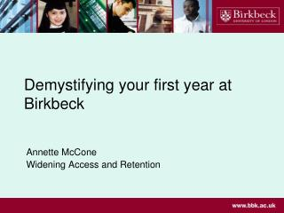 Demystifying your first year at Birkbeck