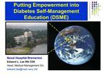 Putting Empowerment into Diabetes Self-Management Education DSME