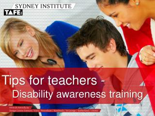 Tips for teachers - Disability awareness training