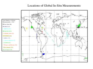 Total Number of Global Measurements = 1342   Ace-Asia (46)  AMLR (62)   BBOP (450)