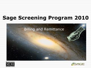 Sage Screening Program 2010