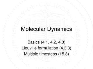 Molecular Dynamics