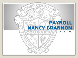 PAYROLL NANCY BRANNON