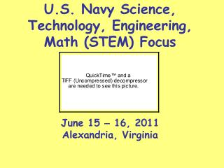 U.S. Navy Science, Technology, Engineering, Math (STEM) Focus