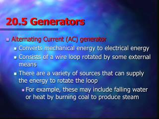 20.5 Generators