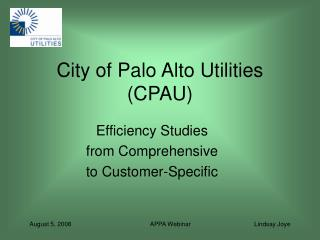 City of Palo Alto Utilities (CPAU)