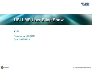 USI LMS User Slide Show