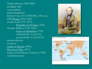 Charles Darwin (1809-1882) paradigm shift catastrophism uniformitarianism