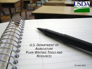 U.S. Department of Agriculture Plain Writing Tools and Resources
