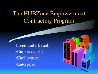 The HUBZone Empowerment Contracting Program