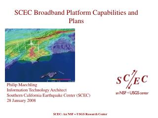 SCEC Broadband Platform Capabilities and Plans