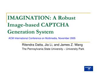 IMAGINATION: A Robust Image-based CAPTCHA Generation System