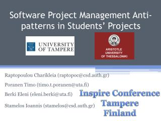 Software Project Management Anti-patterns in Students' Projects
