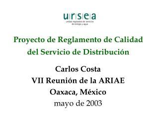 Proyecto de Reglamento de Calidad del Servicio de Distribución