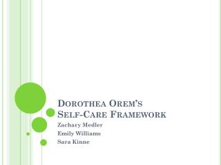 Dorothea Orem's Self-Care Framework