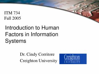 Introduction to Human Factors in Information Systems