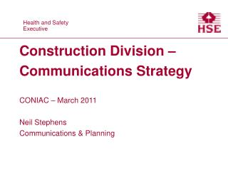 Construction Division – Communications Strategy
