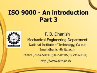 ISO 9000 - An introduction Part 3
