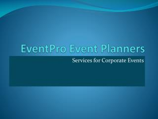 EventPro Event Planners