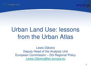 Urban Land Use: lessons from the Urban Atlas