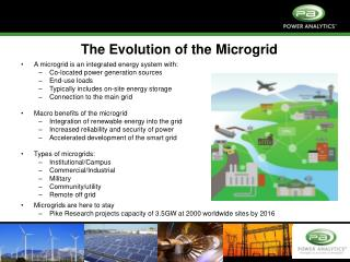 The Evolution of the  Microgrid A  microgrid  is an integrated energy system with: