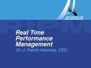 Real Time Performance Management
