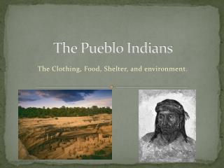 The Pueblo Indians