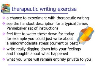 therapeutic writing exercise